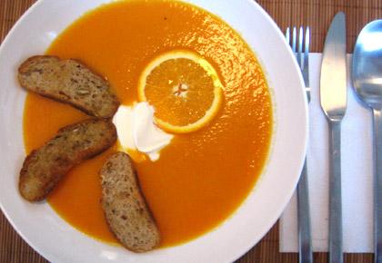 karotten orangen suppe we eat fine. Black Bedroom Furniture Sets. Home Design Ideas