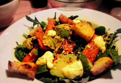 salat mit ger steten karotten und avocado mit orangen zitronen dressing we eat fine. Black Bedroom Furniture Sets. Home Design Ideas