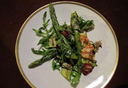 reis spargel salat
