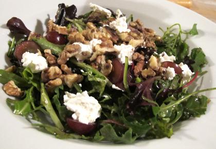 trauben bohnen salat