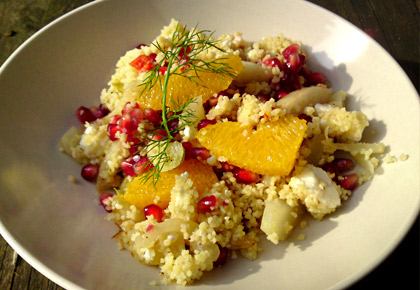 couscous salat mit fenchel orange feta und granatapfel we eat fine. Black Bedroom Furniture Sets. Home Design Ideas