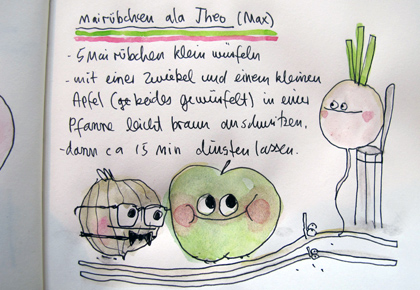 Spaghetti mit Mairübchen, Mangold und Apfel ala MAX*** « we eat fine